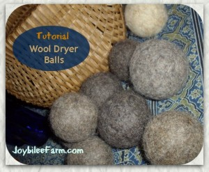 wool dryer balls tutorial