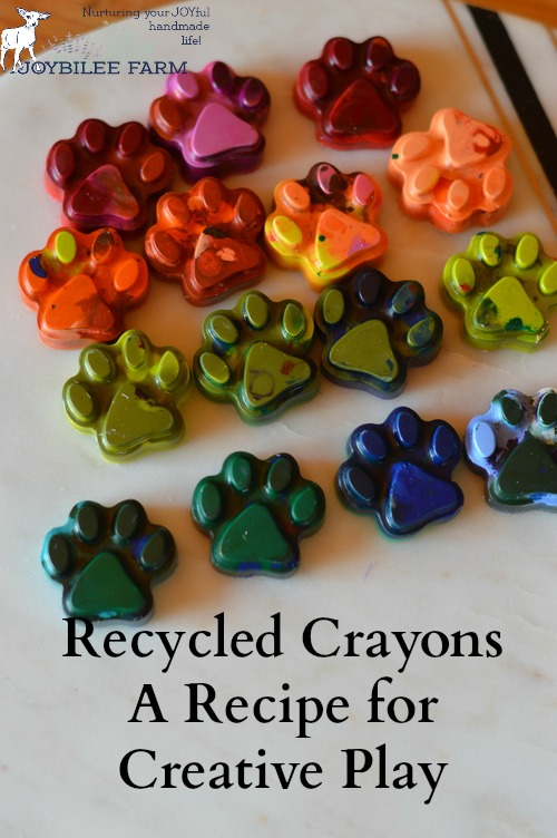 Every August parents of preschoolers and elementary students buy a box of crayons. Last year's crayons are half used and broken, lying in the kitchen drawer or a box, neglected, but not useless. Don't throw them out. Crayons are made with parafin wax and lab created pigments. They are petroleum products. They never break down in the landfill. They aren't biodegradable.