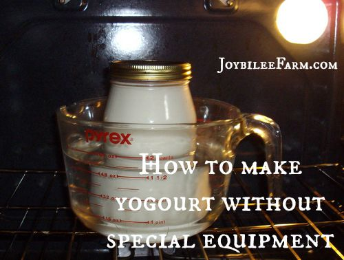 How to make yogourt/yoghurt at home -- Joybilee Farm