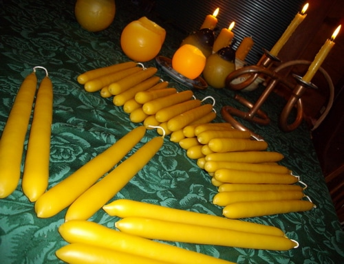 Hand Dipped Beeswax Candles from Joybilee Farm