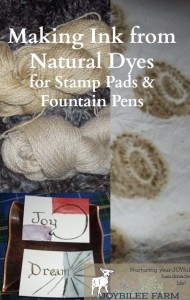 How to make ink from natural dyes part 2