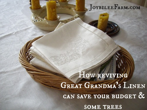 How reviving Great Grandma's Linen can save your budget and save some trees