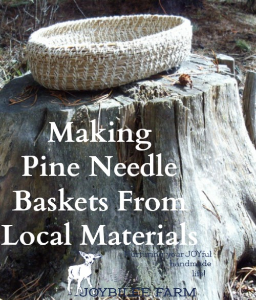 Materials For Basket Making : Making pine needle baskets from local materials diy