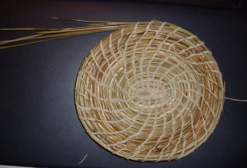 Pine Needle Basket Progress 2