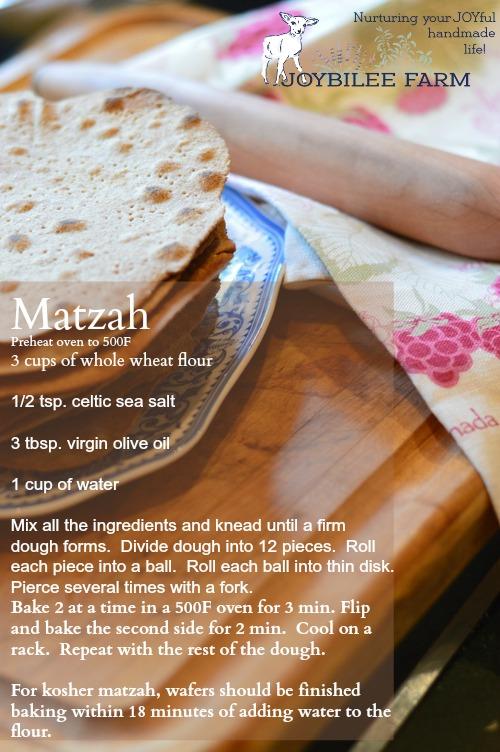 Matzah recipe