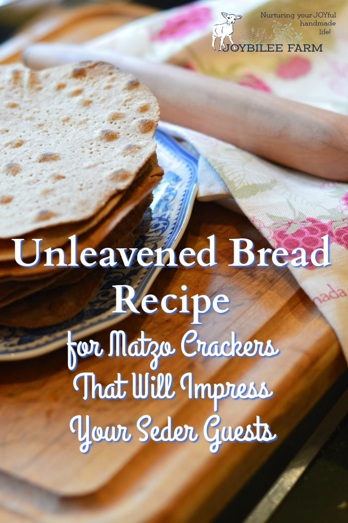 Try my unleavened bread recipe and you won't need to hunt all over town or mail order from Israel to get company-quality matzo for your Passover seder.