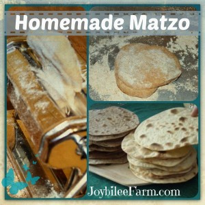 homemade matzo