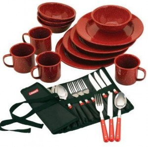 Red dishes