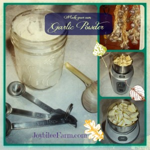 DIY Garlic Powder