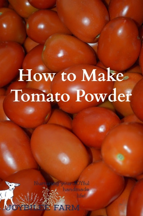 When you make tomato powder from waste skins you create a wholesome product and stretch those lovely tomatoes from your garden.