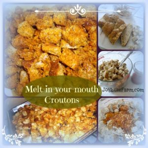 Don't toss that crust of bread - How to make croutons