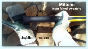 Eco-Mittens for everyone on your homestead — Tutorial