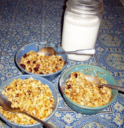 Kefir and honey granola recipe (organic honey giveaway)