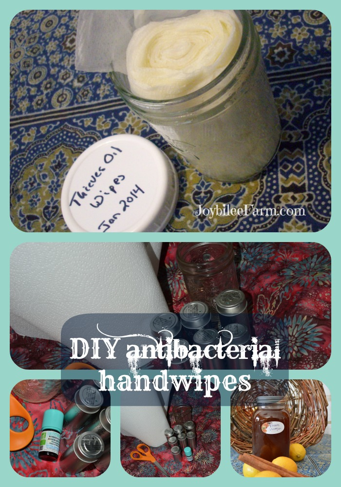 DIY Antibacterial handwipes