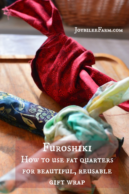 Furoshiki - How to use fat quarters for beautiful, reusable gift wrap