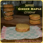 Ginger Maple Cream Cookies