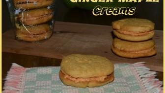 Ginger Maple Cream Cookies