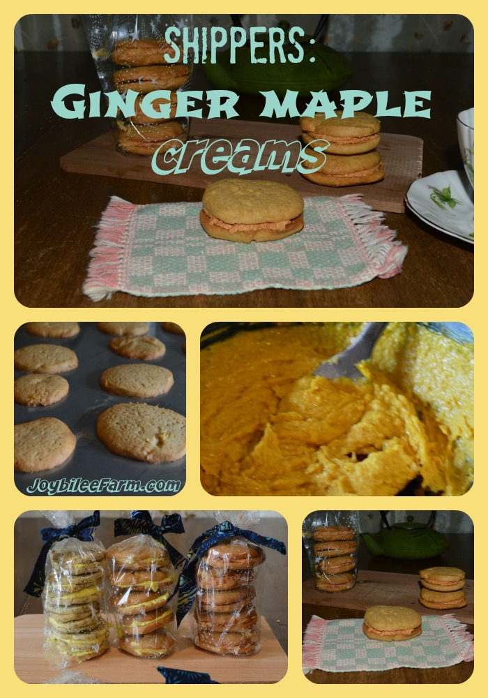 Ginger Maple Cream Cookies -- Joybilee Farm