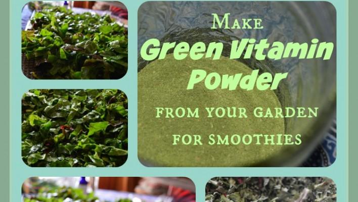 DIY Superfood greens supplement powder for smoothies -- Joybilee Farm