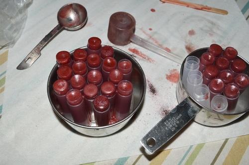 lip balms filled