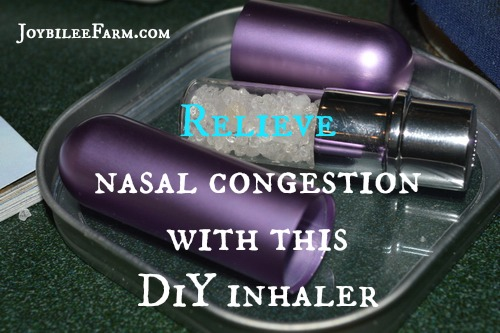 Relieve nasal congestion with this DiY
