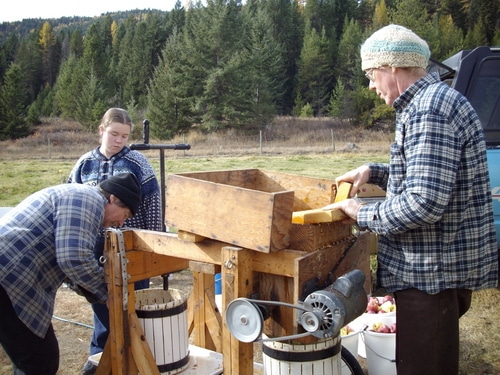 Apple pressing time
