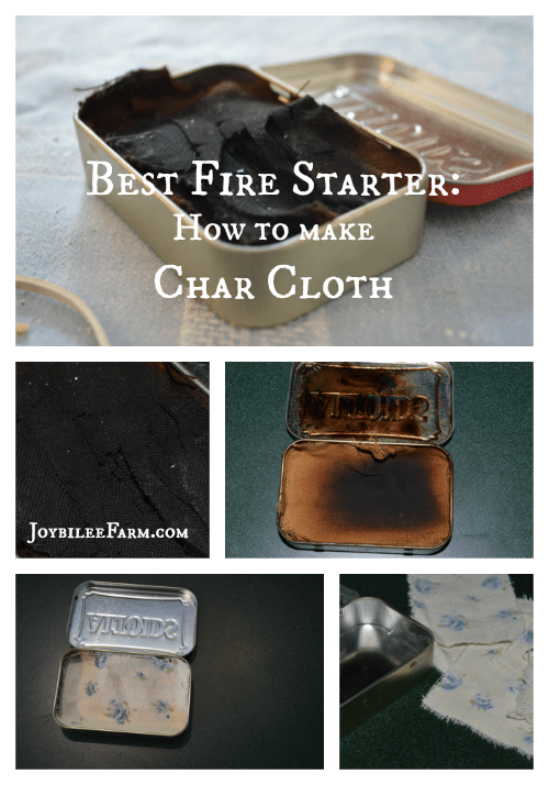 Best Fire Starter -- How to Make Char Cloth -- Joybilee Farm