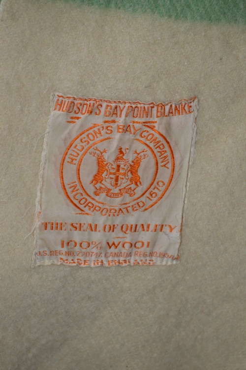 wool blanket hudsons bay label