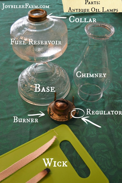 Antique oil lamps -- how to clean
