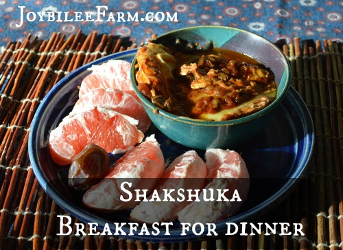 Shashuka: Breakfast for Dinner -- Joybilee Farm