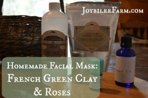 Homemade Facial Mask: French Green Clay and Roses