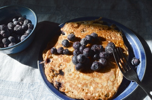 Sourdough blueberry pancake recipe -- Joybilee Farm