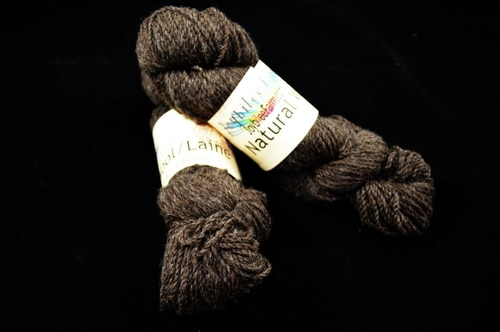 Natural Brown 2 ply sports weight yarn