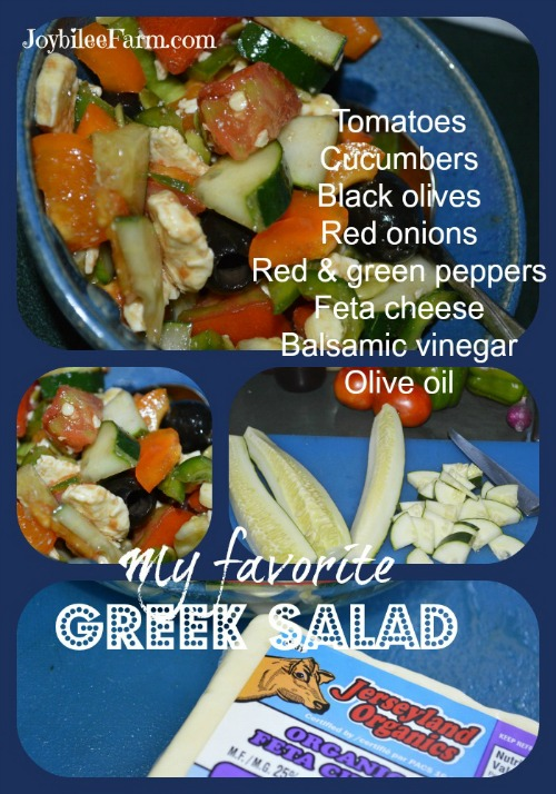 Summer Salad recipes: My favorite Greek Salad -- JoybileeFarm.com