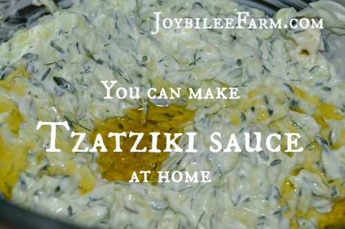 You can make Tzatziki sauce at home -- Joybilee Farm