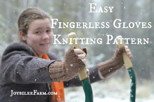 Fingerless Gloves in the garden