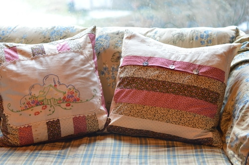 Little House Linen Pillows