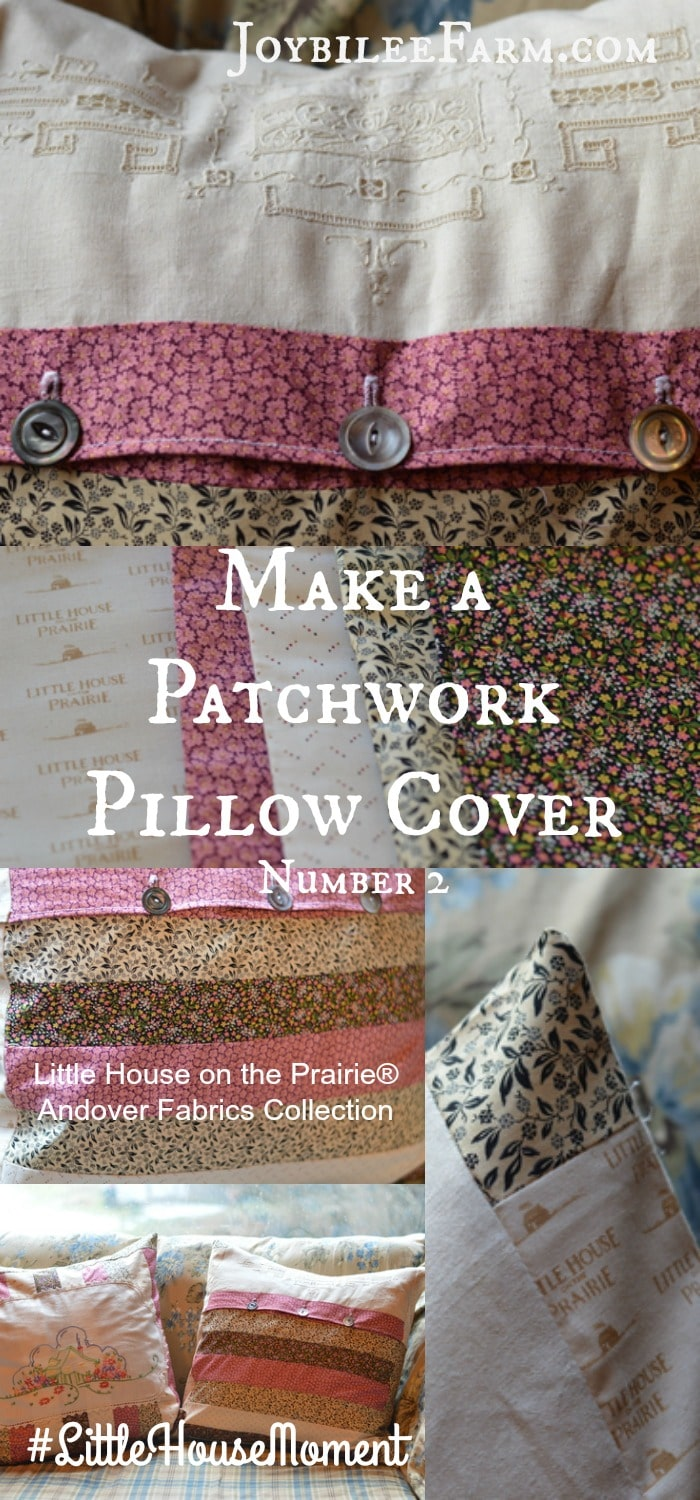 Make comfortable throw pillows with bits of fat quarters and vintage linens that will make your home cosy and beautiful. You don't need a pattern with these easy to follow instructions from Joybilee Farm