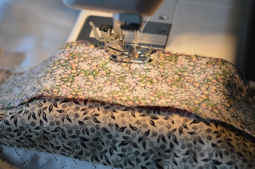 Little House pillow top sewing