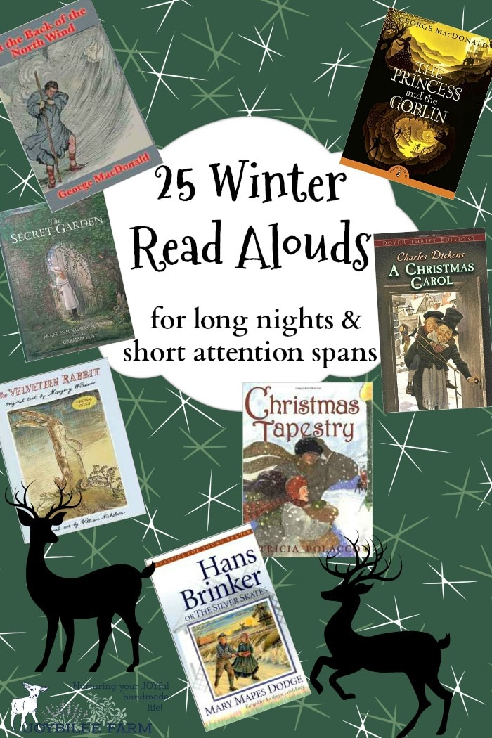 Reading aloud, builds memories, exercises the imagination, builds vocabulary, and grows a love of reading and discernment of good writing. While listening to the stories, my homeschooled children practised other skills like carving, and knitting, so that the time was full of productivity and pleasant feelings.