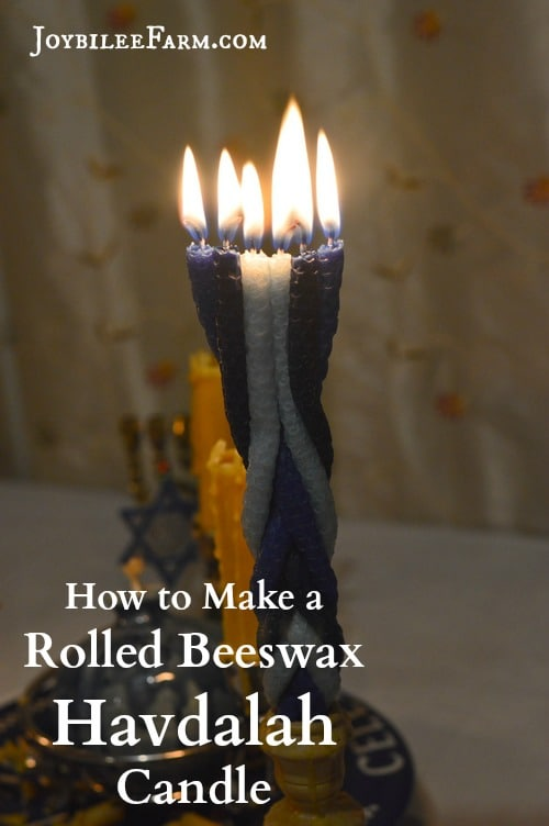 How to make a rolled beeswax havdalah candle