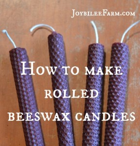 How to make a rolled beeswax candles