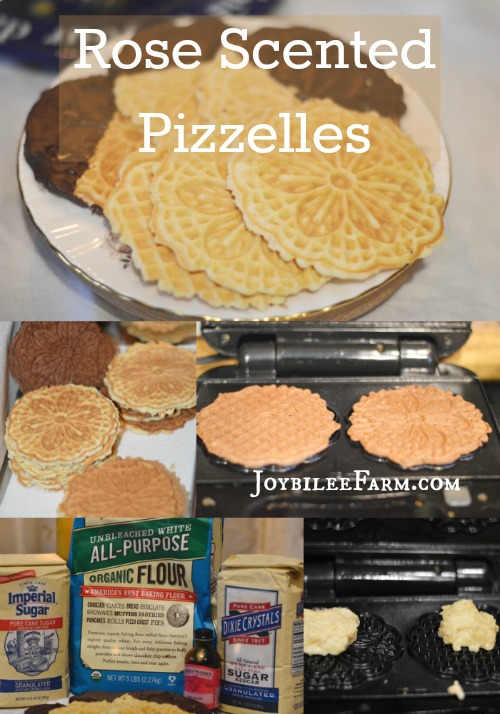 Rose scented Pizzelles lg