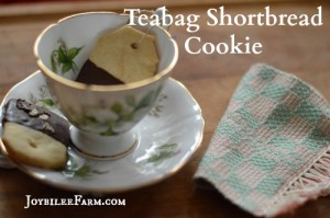 Tea Bag Shortbread Cookies for the Tea Lovers on your List