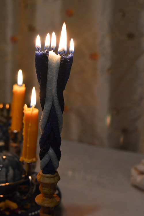 havdalah candle lit