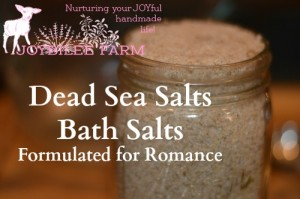 Dead Sea Salts Bath Salts Formulated for Romance
