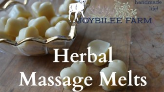 Lotion bars for an herbal massage