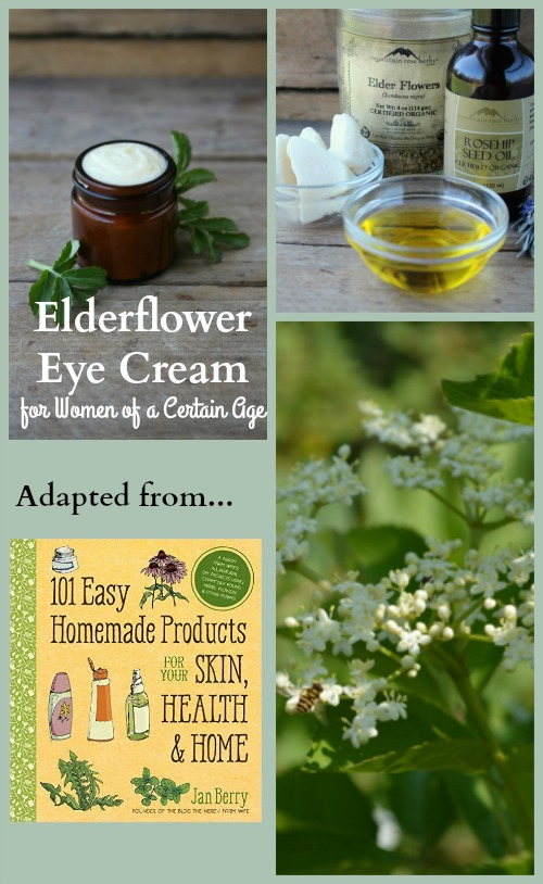 Elder eye cream will improve the look and feel of your hard working eyes, brightening your soul just a little bit, too. Hint: This would make a lovely gift for your Mother (or yourself) on Mother's Day.