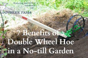 7 Benefits of a Double Wheel Hoe in a No-till Garden