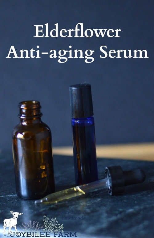 try my personal anti-aging serum recipe. I find this soothes the tiredness and takes away the dryness. It also reduces the appearance of fine lines. When I formulated the recipe I picked oils, herbs, and essential oils that were known to fight the signs of aging, protect from free radical damage, and repair and rejuvenate the skin, as well as moisturize.